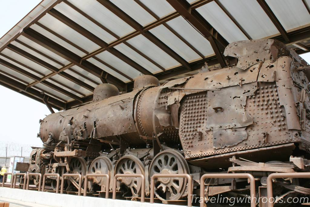 An old train near the DMZ