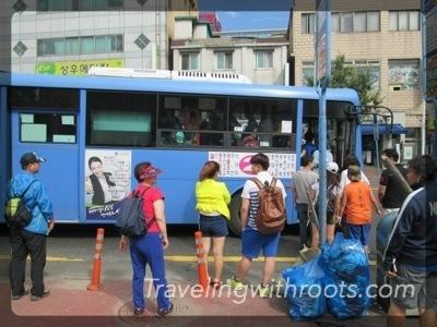 Korean bus stop