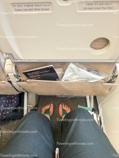 EVA/Asiana gives you so much leg room!