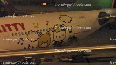 We rode in a Hello Kitty plane! Probably a highlight of our life....and I don't even like Hello Kitty.